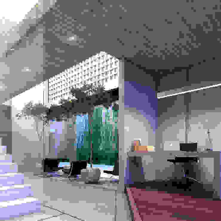 NP CC Pasillos, vestíbulos y escaleras minimalistas de Esquiliano Arqs Minimalista