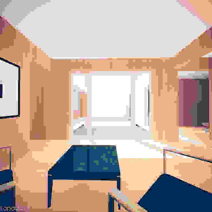 Casa em Lavre Salas de estar modernas por Tapada arquitectos Moderno Madeira maciça Multicolor