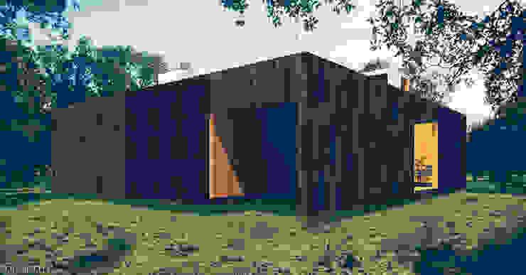 Casa em Lavre Casas modernas por Tapada arquitectos Moderno Madeira maciça Multicolor