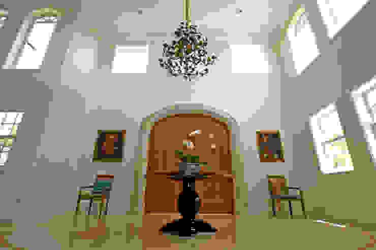 Hall de Entrada Living por Célia Orlandi por Ato em Arte Campestre