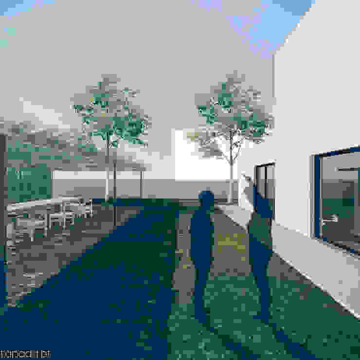 Casa em Fernão Ferro Casas modernas por Tapada arquitectos Moderno