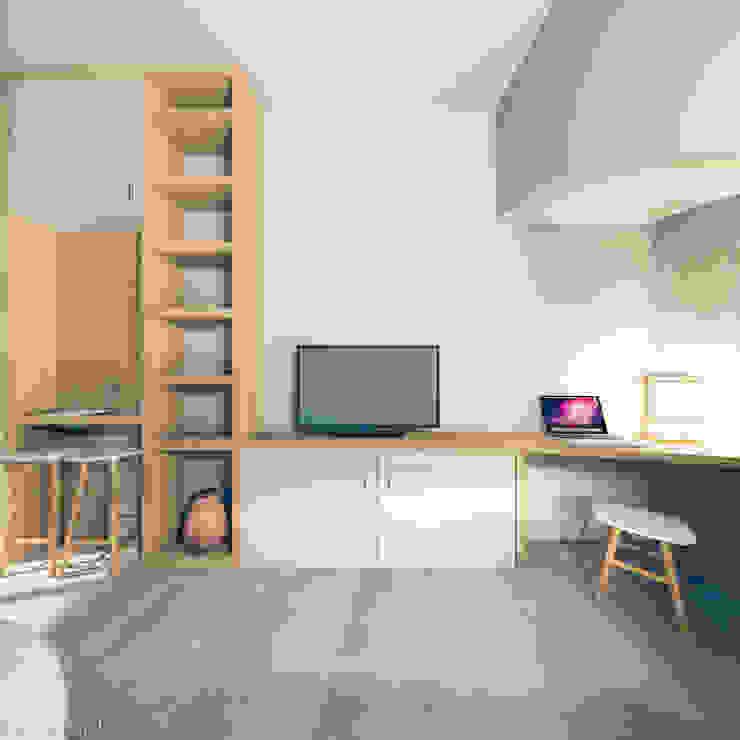 Recuperação em Évora Salas de estar modernas por Tapada arquitectos Moderno