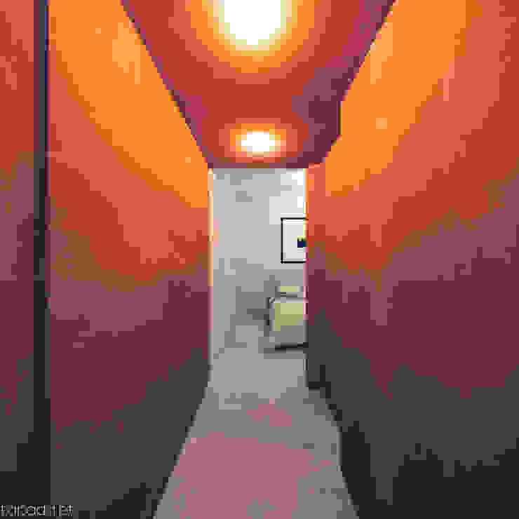 Recuperação em Évora: Corredores e halls de entrada  por Tapada arquitectos,