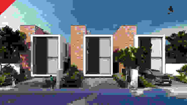 Town Houses Zibatá Casas minimalistas de Tectónico Minimalista