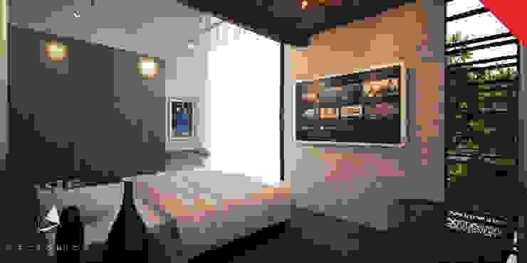 Town Houses Zibatá Dormitorios minimalistas de Tectónico Minimalista