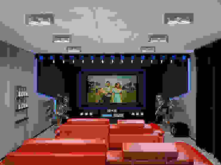 Projekty,  Pokój multimedialny zaprojektowane przez homify,
