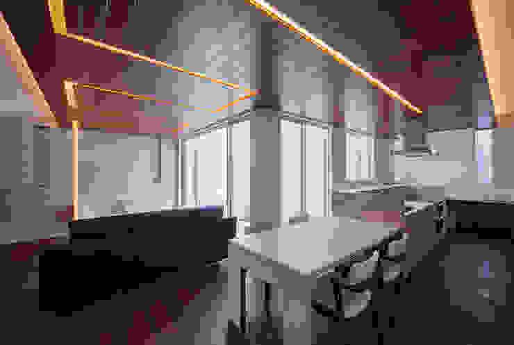 Y8-house「木と石の家」 モダンデザインの ダイニング の Architect Show Co.,Ltd モダン