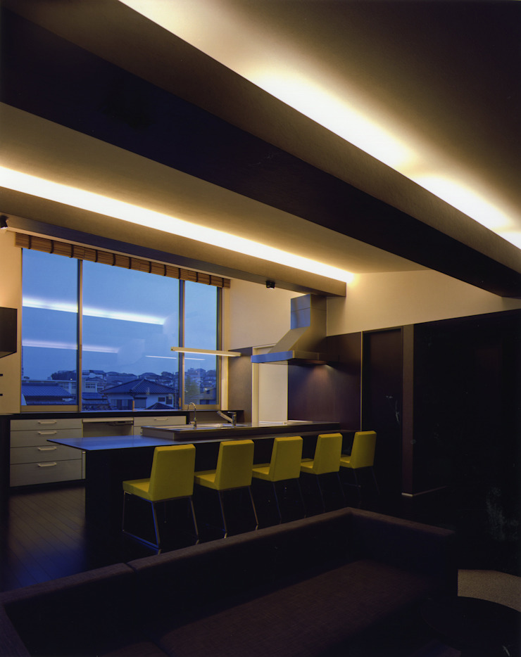 G-house 「展望の家」 モダンデザインの ダイニング の Architect Show Co.,Ltd モダン