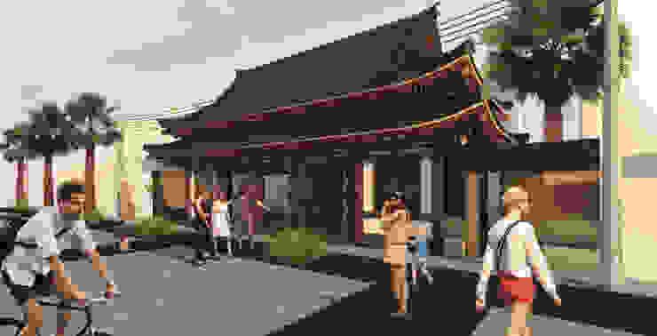 Pagoda Si Sushi Gastronomía de estilo asiático de Zkla Asiático Madera maciza Multicolor