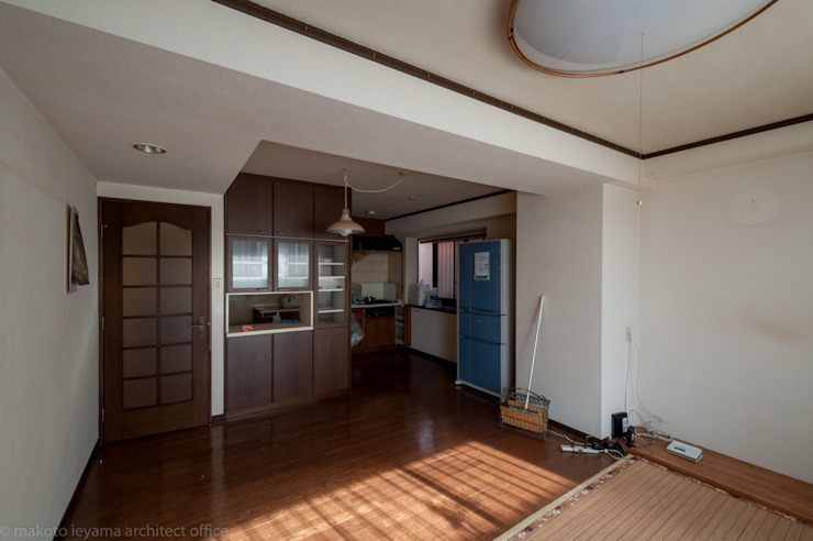 改修前のリビング の 家山真建築研究室 Makoto Ieyama Architect Office