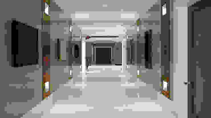 Private Villa, Surrey Pasillos, vestíbulos y escaleras de estilo moderno de Keir Townsend Ltd. Moderno