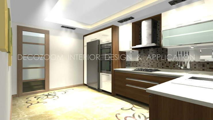 DECOZOOM INTERIOR DESIGN KitchenCabinets & shelves Wood Wood effect