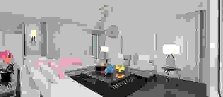 Salones de estilo moderno de Kerim Çarmıklı İç Mimarlık Moderno