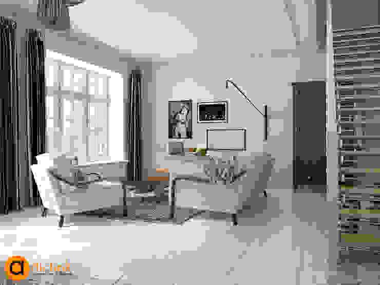Salas de estar escandinavas por Artichok Design Escandinavo