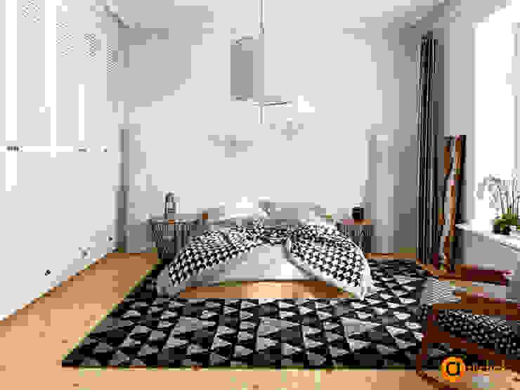 Скандинавское кружево Спальня в скандинавском стиле от Artichok Design Скандинавский