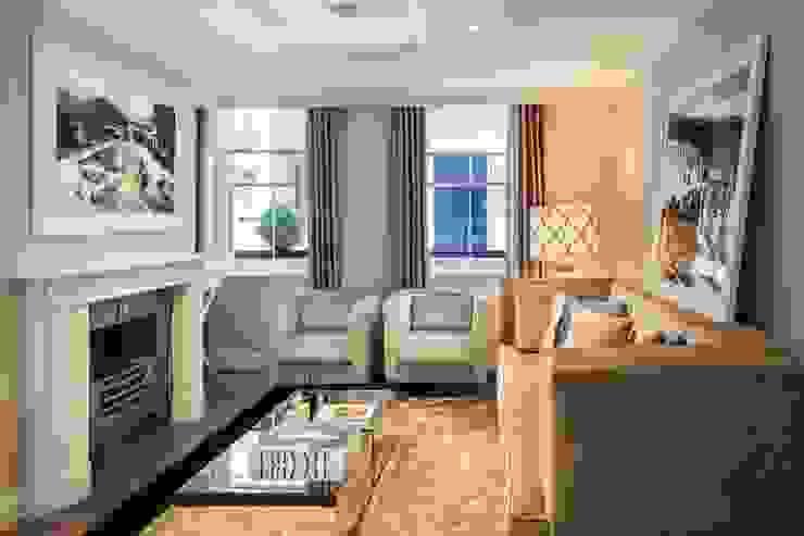 Londres . Interdesign: Sala de estar  por Interdesign Interiores,