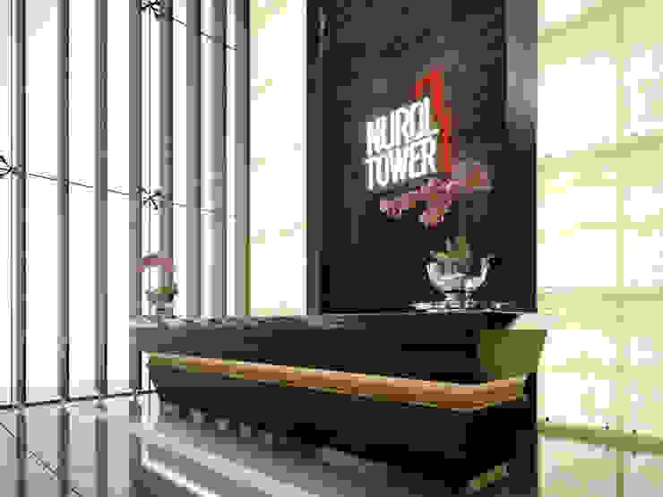 NUROL TOWER LOBİ Kerim Çarmıklı İç Mimarlık
