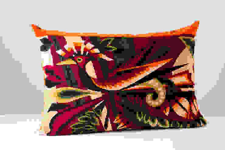 Les SAUVAGE par Les SAUVAGE Moderne Textile Ambre/Or