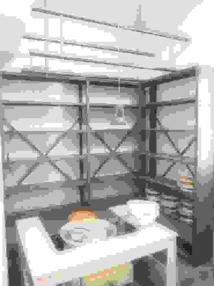 店舗部陶芸スペース ミニマルデザインの 多目的室 の ReBORN House レボンハウス ミニマル 鉄/鋼