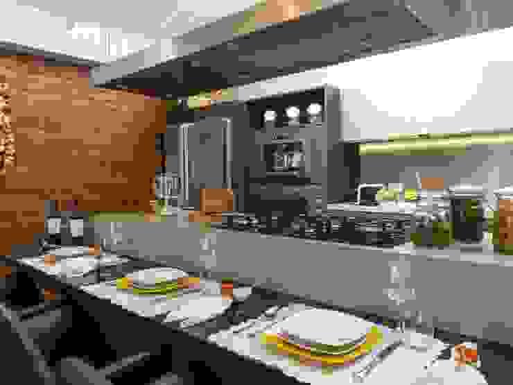 Projeto MF Interiores - Cozinha Gourmet Cozinhas modernas por MF Interiores Moderno