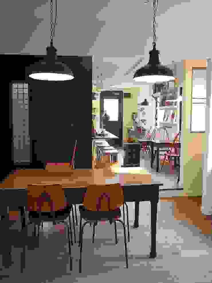店舗部陶芸教室スペース 北欧デザインの 多目的室 の ReBORN House レボンハウス 北欧 無垢材 多色