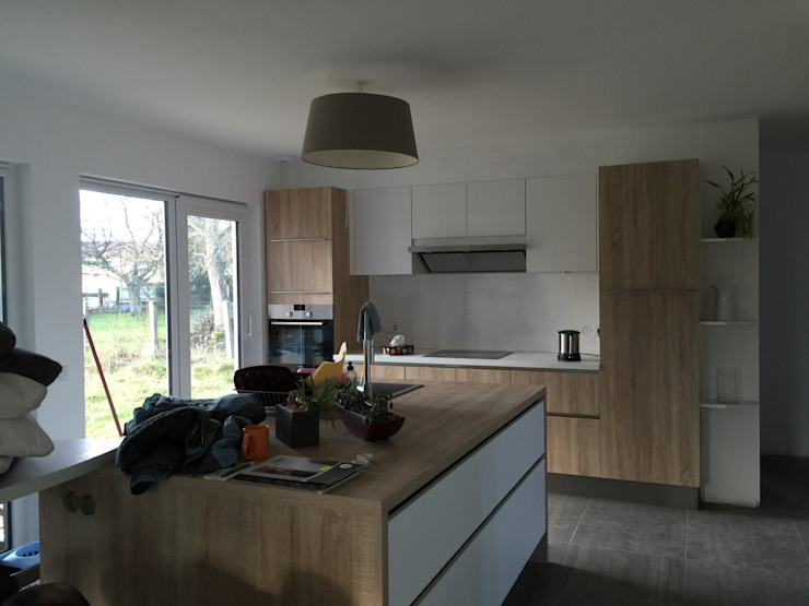 Dapur oleh A.FUKE-PRIGENT ARCHITECTE, Modern
