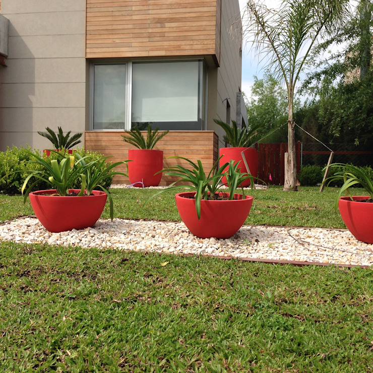 BAIRES GREEN Modern Garden Red