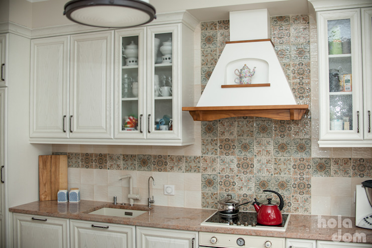 Rustic style kitchen by HOLADOM Ewa Korolczuk Studio Architektury i Wnętrz Rustic