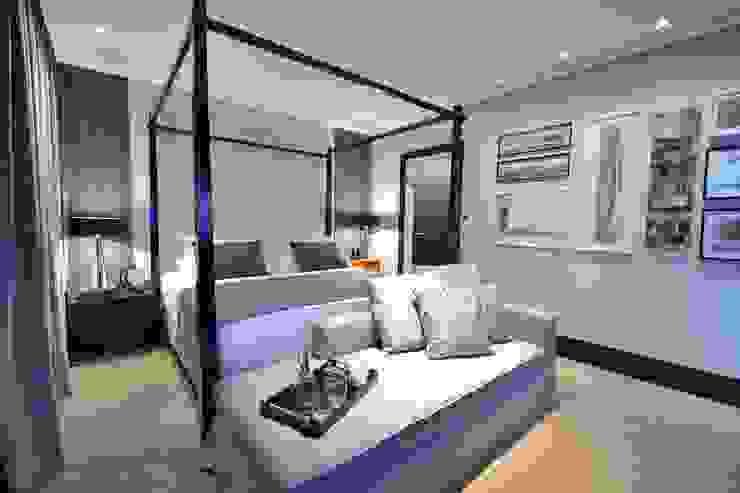 Suíte DOIS (em masculino) Paredes e pisos modernos por Marcelo Minuscoli - Projetos Personalizados Moderno