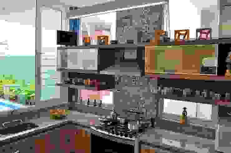 Integração espacial Cozinhas modernas por Libório Gândara Ateliê de Arquitetura Moderno