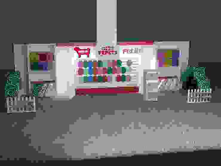 Render para stand comercial /exhibición de SIMETRIC ARQUITECTURA INTERIOR