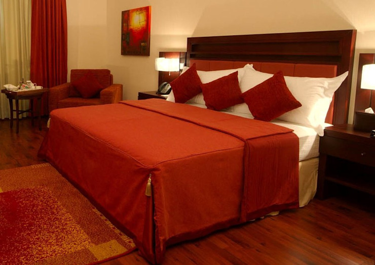 Deluxe Otel Odası Minimalist Oteller Gür Mobilya Minimalist Ahşap Ahşap rengi