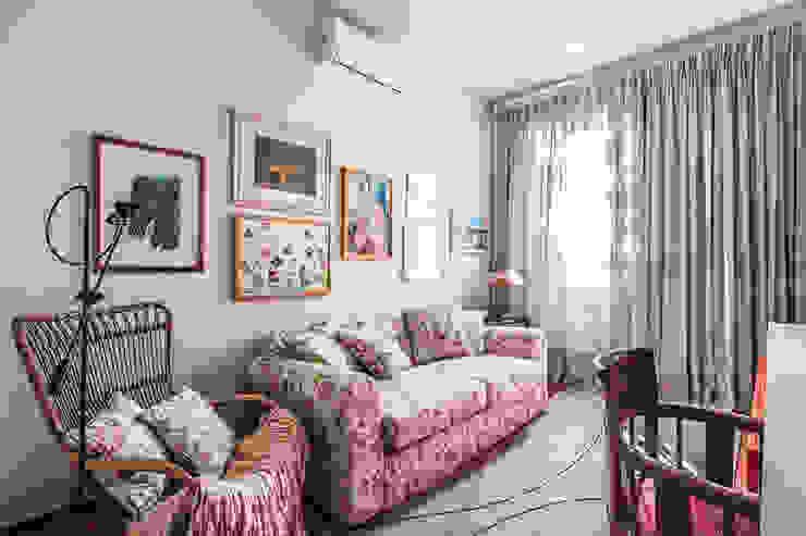 Residência Londrina 3 Salas de estar modernas por Antônio Ferreira Junior e Mário Celso Bernardes Moderno