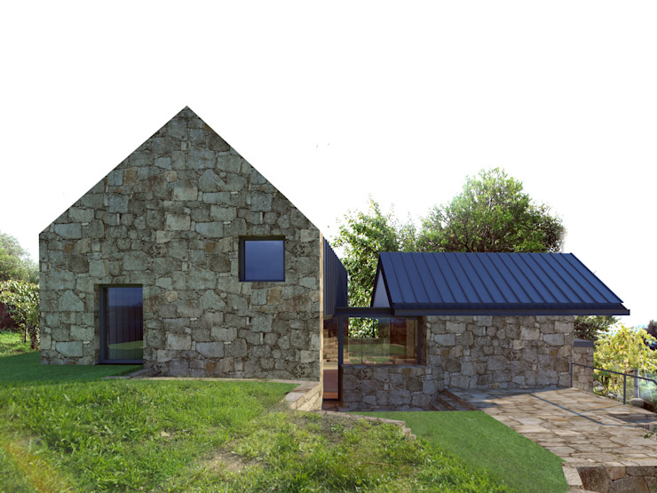 Rustic style house by Davide Domingues Arquitecto Rustic Granite