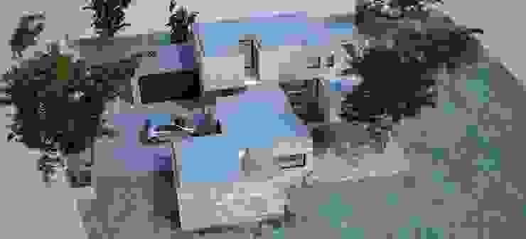 Vista aérea - alçado lateral direito por Davide Domingues Arquitecto