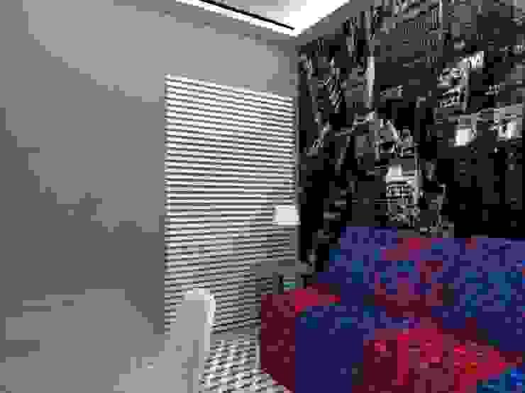 Dormitório Jovem MP Quartos modernos por Nádia Catarino - Arquitetura e Design de Interiores Moderno Madeira Efeito de madeira