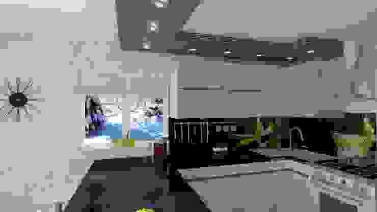 Kuchnia w domku jednorodzinnym Rychwał od WIZJA WNĘTRZA - projekty i aranżacje