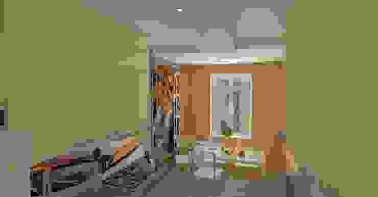 Kuchnia w bloku wersja 2 od WIZJA WNĘTRZA - projekty i aranżacje