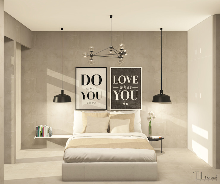 Scandinavian style bedroom by Lagom studio Scandinavian Concrete