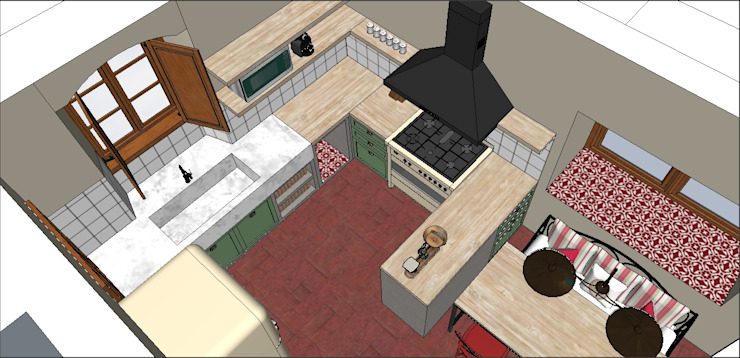 PLATZ Kitchen Wood Multicolored
