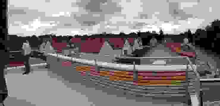 Balcone, Veranda & Terrazza in stile moderno di A.FUKE-PRIGENT ARCHITECTE Moderno