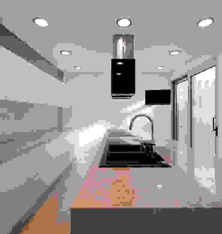 House in Portimão Cozinhas modernas por MOM - Atelier de Arquitectura e Design, Lda Moderno