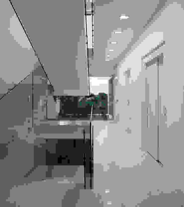 House in Portimão Corredores, halls e escadas modernos por MOM - Atelier de Arquitectura e Design, Lda Moderno
