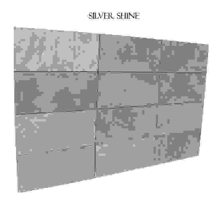 Kwarcyt Silver Shine Natural od Kamienie Naturalne Chrobak Nowoczesny Kamień