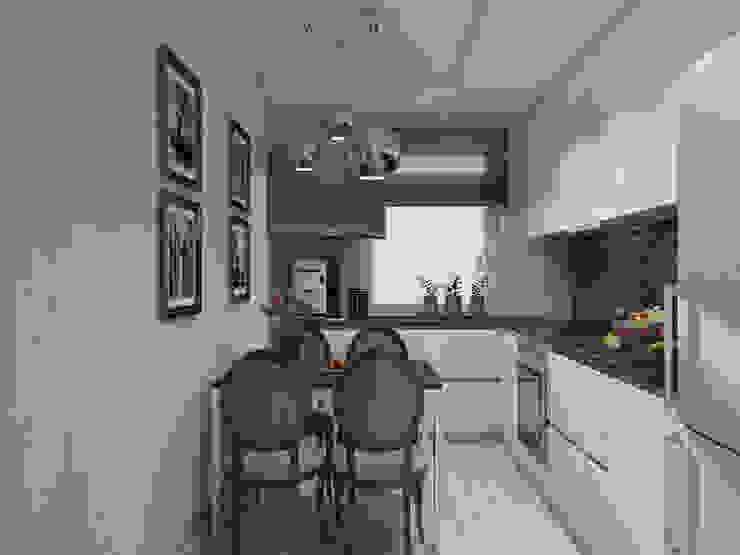 Двухкомнатная квартира в Москве Кухня в стиле модерн от EEDS дизайн студия Евгении Ермолаевой Модерн
