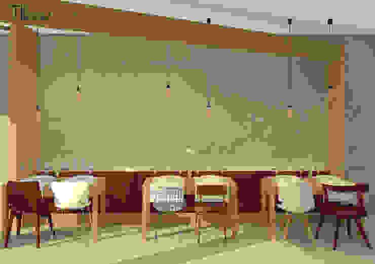Restaurant Hotéis escandinavos por Lagom studio Escandinavo Betão