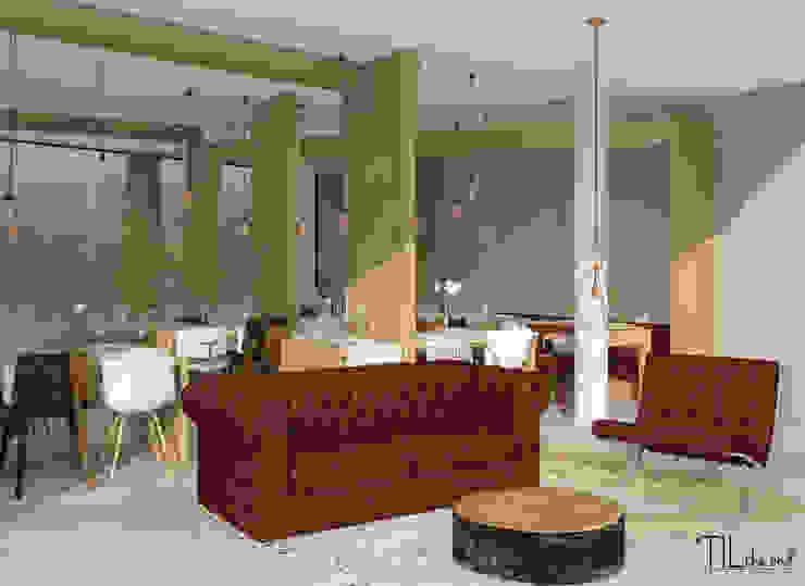 Restaurant lounge area Hotéis escandinavos por Lagom studio Escandinavo Betão