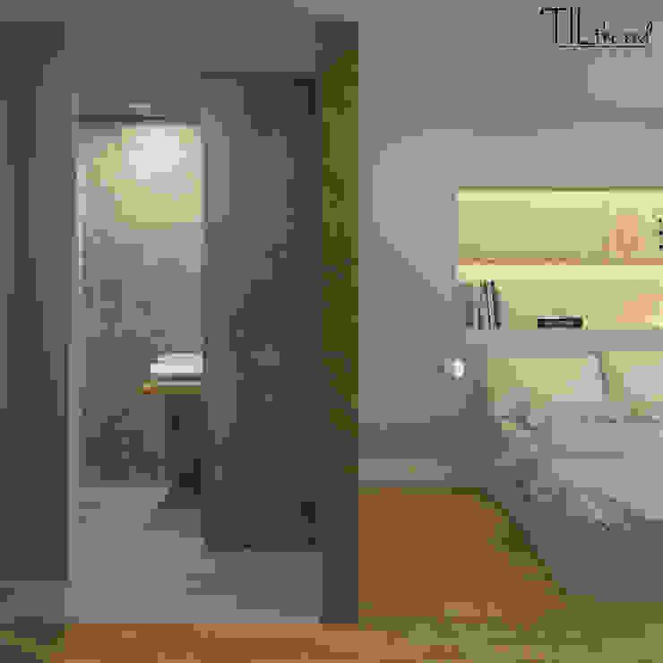 Room 1 Hotéis escandinavos por Lagom studio Escandinavo Betão