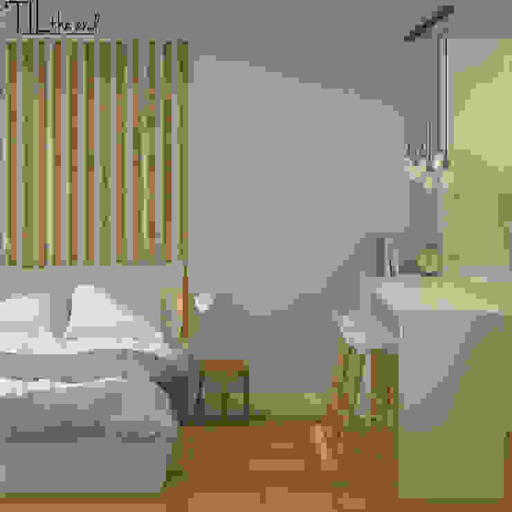 Room 2 Hotéis escandinavos por Lagom studio Escandinavo Madeira Acabamento em madeira