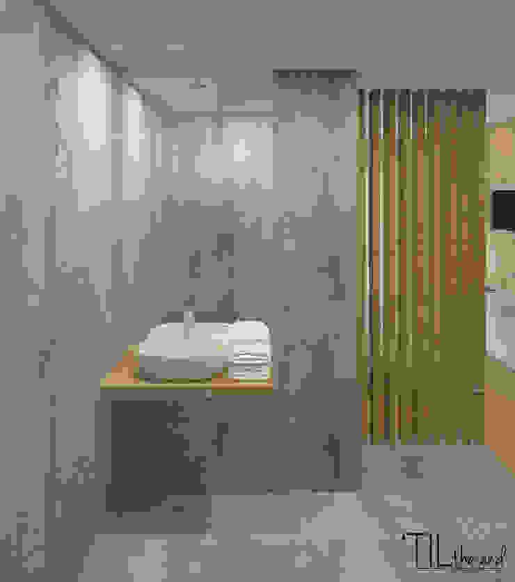 Room 1 wc Hotéis escandinavos por Lagom studio Escandinavo Betão